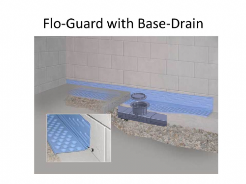 Flo-Guard -for when you need to put Base-Drain in front of the footer